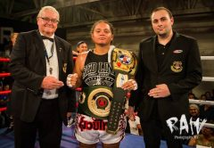 Alrie Meleisea winning the New Zealand National (NZPBA Version) and UBF Asia Pacific Female Heavyweight Titles