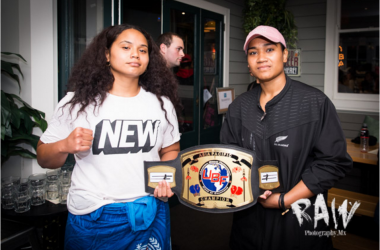 Alrie Meleisea and Nailini Helu for the vacant New Zealand National (NZPBA Version) & vacant UBF Asia Pacific female heavyweight titles